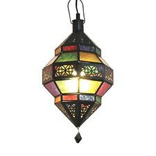 ORIENTLAMPE orientalische Hängelampe Lampe Glaslampe Orient Deckenlampe Trob