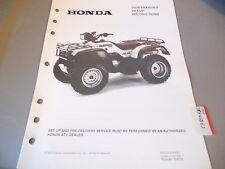Honda Setup Instructions Manual 2000 TRX450ES TRX450 ES