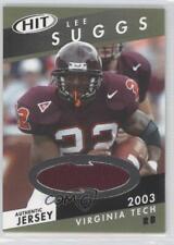 2003 SAGE Hit Jerseys #HJ11 Lee Suggs Virginia Tech Hokies Rookie Football Card
