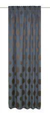 Fertigvorhang / Seitenschal Ottobrunn Farbe petrol-braun / 4 Größen