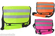36af7774b76 Euro Hi Vis Messenger Bag 3 Colours Hi Viz Shoulder Bag Courier School  Cycling