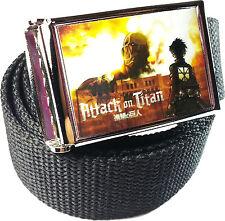 Attack On Titan Colossal Belt Buckle Bottle Opener Adjustable Web Belt