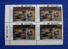 U.S. (Nd12) 1993 North Dakota State Duck Stamp lower left Pb4 (Mnh)