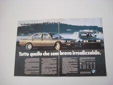 advertising Pubblicità 1981 BMW SERIE 5