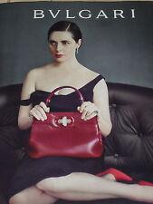 PUBLICITE  2012   BULGARI   ISABELLA ROSSELLINI porte son sac