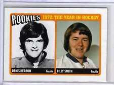 DENIS HERRON BILLY SMITH 09/10 ITG ROOKIES 1972 #R-02 Insert Hockey Card