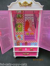 Muñeca Barbie Sindy Lovely Pink Tamaño Plástico Muebles de dormitorio Armario vendedor del Reino Unido