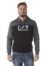 Felpa Emporio Armani EA7 Sweatshirt Hoodie Cotone Uomo Grigio 6YPM98PJ07Z 22BL