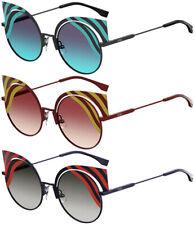 Fendi Hypnoshine Matte Metal Cat-Eye Sunglasses w/ Gradient Lens 0215S - Italy
