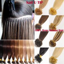 200S Fusion Keratin Pre Bonded Nail U Tip 7A Real Remy Human Hair Extensions US
