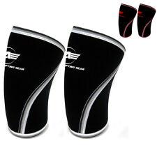 Knee Sleeves Pair Powerlifting Weightlifting Support Crossfit 7mm Pain Relief