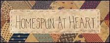 Art Print, Framed or Plaque by Vicki Huffman - Homespun at Heart - VH102-R