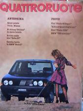 Quattroruote 325 1982 Prove Alfasud Quadrifoglio Oro - BMW 735 iniez.- Fiesta XR
