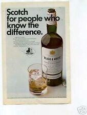 Black & White Scotch Whisky Ad 1960's Original Ad