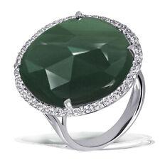 Goldmaid Ring 925 Sterlingsilber 1 Aventurin Farbstein 46 weiße Zirkonia