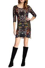 Custo Barcelona Mille Citty Lightweight Wool 3/4 Sleeve Sweater Dress S M L