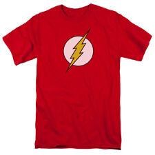 DC Comics Flash Logo Mens Short Sleeve Shirtall Black