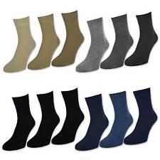 6 o 12 X Par Corto Calcetines de deporte Hombre Algodón Negro Vaqueros