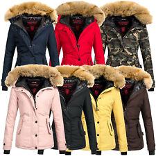 Navahoo Jacke Winter Damen Parka Mantel Winterjacke warm XXL Kunstpelz OMLaura