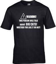 Big Cats Mens T-Shirt Wildlife Vet Animals Tiger Lion Leopard Cheetah Gift Idea