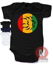 Naughtees Clothing Rasta Lion Head Reggae Logo Body Babysuit 100% Cotton Nuevo