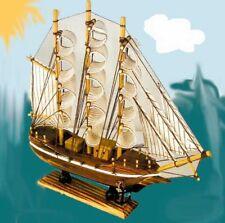 WOODEN SHIP 13 INCH boat nautical ships wood decor wood sail saling boats new