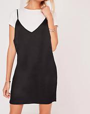MISSGUIDED satin 2-in-1 dress black (M1/17)