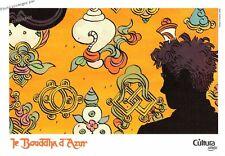 Ex libris Le BOUDDHA d'AZUR affiche BD offset Dupuis bouddhisme tibet jaune zen