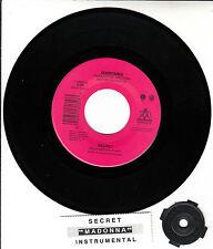 "MADONNA  Secret 7"" 45 rpm vinyl record + juke box title strip"
