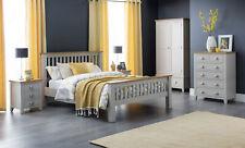 Julian Bowen Richmond Grey & Oak Bedroom Furniture - Metal Handles & Solid Wood