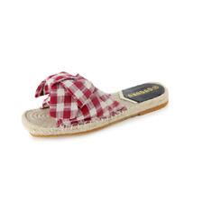 Sandali eleganti sabot  ciabatte rosso beige comodi simil pelle colorati 9832