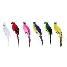 Realistic Macaw Parrot Artificial Feather Bird Animal Ornament Garden Decor