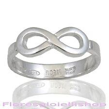 Anello infinito in argento 925 simbolo infinito. Infinity ring - Flores gioielli
