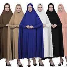 Dubai Muslim Women's Prayer Hijab Scarf Robe Jilbab Islamic Large Overhead Dress