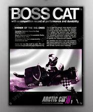 VINTAGE ARCTIC CAT 'BOSS CAT' SNOWMOBILE BANNER