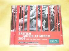 RARE COFFRET 2 CD / BRITISH MUSIC AT MIDEM 2003 / TRES BON ETAT