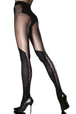 Collant sexy femme semi opaque FIORE - Darya - Fantaisie effet cuissarde 40den