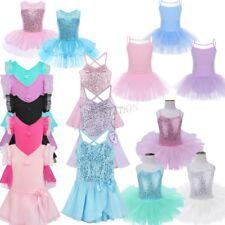 Girls Kids Tutu Ballet Leotard Dance Dress Ballerina Unitard Dancewear Costume
