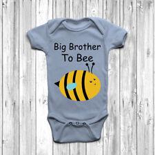Big Brother à Bee Baby Grow Body Costume Gilet Cadeau Naissance Annonce l'arrivée