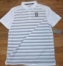 Tek Gear Cooltek Quick Dry White w/ Gray Collar Performance Golf Shirt Drytek