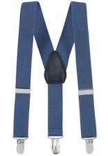 """New 1"""" Denim Suspenders Baby, Toddlers, Kids, Boys Elastic Adjustable - Made in"""