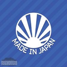 Made In Japan Rising Sun Sticker Vinyl Decal JDM