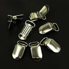 Dummy Clips,Silver Metal Brace  Holder Strap Grips Crafts Dc2