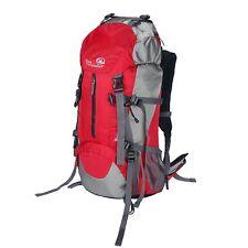 45L Nylon Backpack Waterproof Internal Frame Backpack Bag Day-pack w/ Rain Cover