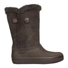 New Womens Crocs Modessa Boots Shoes 5 6 7 8 9 10 Black Brown Beige