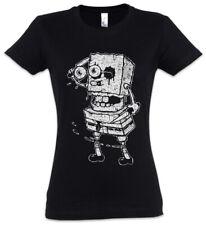 Sponge Rob Women T-Shirt Fun Halloween The Zombie Bob Walking Brains Eater Dead