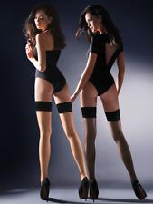 Bas sexy nylon autofixant femme Gabriella Lovia noir ou beige taille 1/2 3/4
