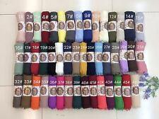 Femme Femmes Écharpe Plaid écharpe 50 plus couleurs sertir effiloché bords Maxi écharpes