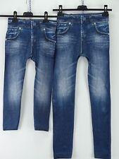 Jeggings Leggins blau Jeansoptik Taschen Retro Streifen Mädchen GR. 116-170 D
