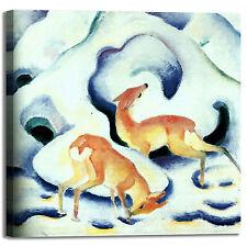 Franz Marc cervi nella neve design quadro stampa tela dipinto telaio arredo casa
